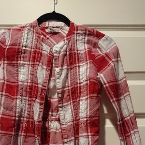 Aeropostale plaid red and white button up